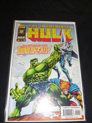 Incredible Hulk #449 1st Thunderbolts Key!!! Direct Edition!
