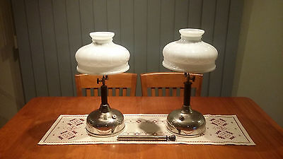 Pair Antique Coleman Quick Lite, Kero Lamp / Light – Shade C329 – Very Rare