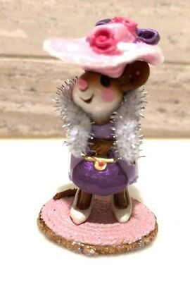 Wee Forest Folk Just Like Mommy! Pink Hat Limited Edition 2004 With Box M-292