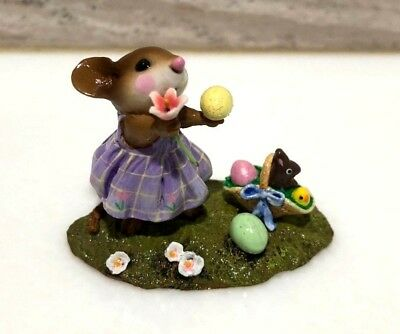 Wee Forest Folk Poppy's Easter Mouse M-321a Limited Edition 2006 w/Box