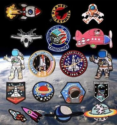 Astronaut NASA Space Rocket Planet Embroidered Logo Patch Badge Iron On / Sew