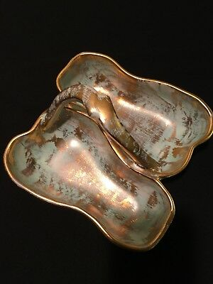 Stangl Pottery Antique Gold 3782 Double Pear Dish with Handle Vintage