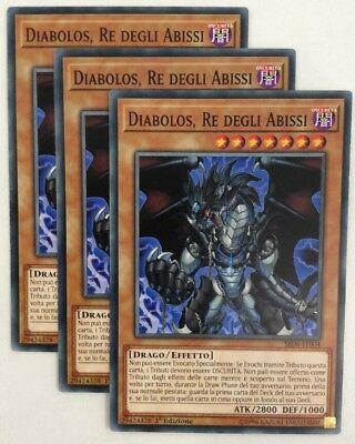 Playset 3X DIABOLOS RE DEGLI ABISSI Comune in Italiano  SR06-IT004 YUGIOH