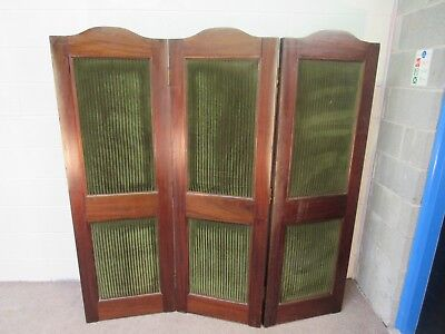 Antique late 19th century French ecclesiastical priests dressing screen, divider