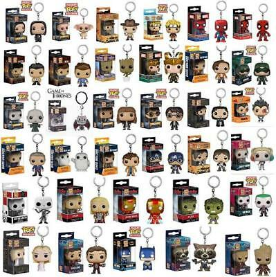 60 Styles Funko POP Pocket Keychains Mini Disney Marvel Groot Keyrings With Box