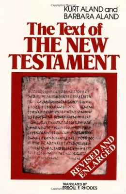 Aland-Text Of The New Testament  BOOK NEW