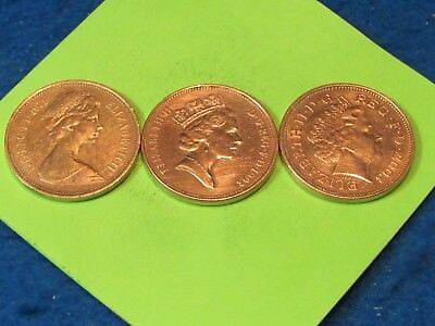 3 ages of the Queen British copper coins (lot of 3)...combine shipping save$$$$