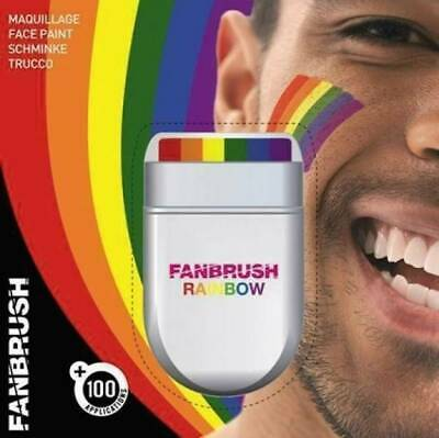 Rainbow Fan Brush For Gay Pride Face & Body Make up - FREE P&P
