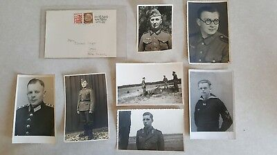 Original Wwii Ww2 Vintage German Army Postcards Lot Of 8