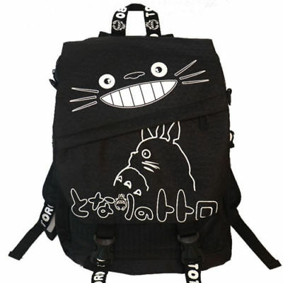 Anime My Neighbor Totoro Backpack Hayao miyazaki School Students Bag Black Color