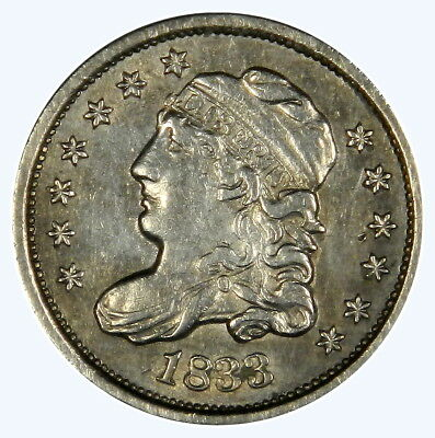 1833 Capped Bust Half Dime ~ Nice Bold Xf/au ~  Priced Right!