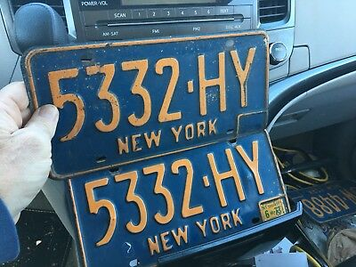 Lot Of  4. New York License Plates Free Ship
