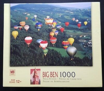 Big Ben Hot Air Balloons 1000 Piece Jigsaw Puzzle 2006 Sealed CL03