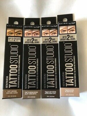 (1) Maybelline Tattoo Studio Waterproof Brow Gel, You Choose