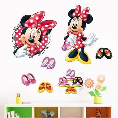 MINNIE MAUS WANDTATTOO Wandsticker XXL Mickey Mouse Kinderzimmer ...