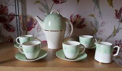 Vintage 1930's 40's Art Deco Tams Ware Handpainted Tea Set.