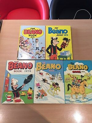Beano Annual 1972,1973,1974,1975 and1976