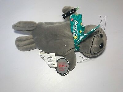 COCA-COLA Vintage Collectible 1997 Seal Bean Bag Plush ~ Style #0107 With Tags