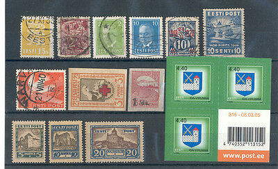 Estonia - Small Lot of mixed quality Stamps