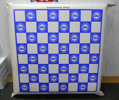 Vintage Memphis State University Tigers Pure Oil Gas Station Seat Cushion 1967