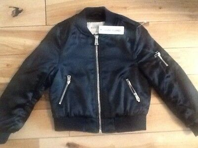 Bnwt River Island Black Bomber Jacket 3-4Yrs