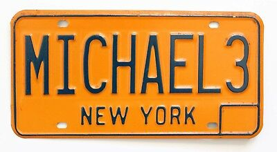 MICHAEL 3 New York Personalized Vanity License Plate, Mike, Boy's Man's Name