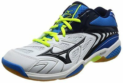 Mizuno badminton shoes Wave Fang SS2 mid-14 white  navy  blue 25.0