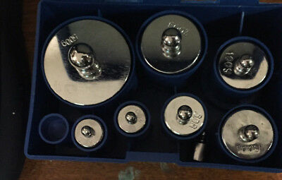 8 pcs calibration weight set 10g 20g 50g 100g 200g 500g -- 1000g total NO RESERV