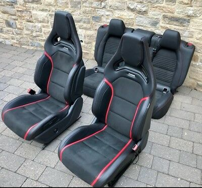 Mercedes A45 Cla45 Amg Recaro Bucket Seats With Rear Heated Electric