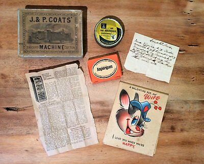 Antique Medicine Recipies Soaps Containers and Valentine