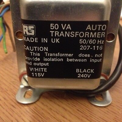 Chassis Auto Transformer 240V INPUT, 115V OUTPUT 50VA  not isolating