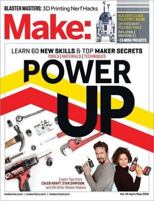 Make: Volume 50: Power Up (Make: Technology on Your Time)  BOOK NEW
