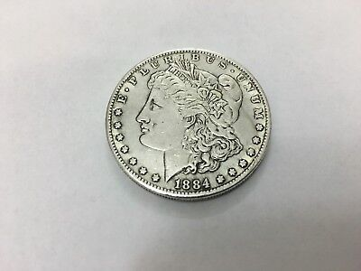 Old Coin 1884 USA American One Dollar
