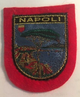 "Napoli, Naples Italy Souvenir Embroidered Patch - 3""h x 2.5""w -new"