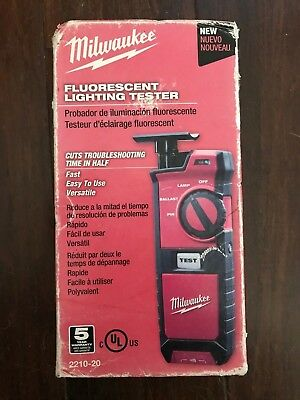 MILWAUKEE 2210-20 Fluorescent Lighting Tester - New In Package
