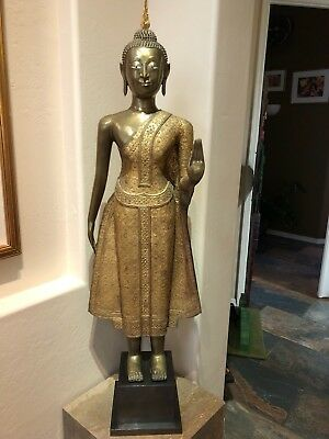 19th Century Thai Standing Buddha Statue - Dispelling Fear