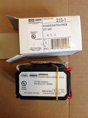 NEW Hubbell Unenco 213-1control module ballast 277V 20 Amp power switch pack