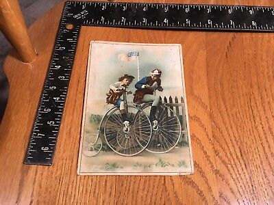 Antique Post Card Photo Bicycles Velocipedes 1900