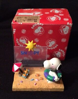 Vintage *UNITED FEATURE SYNDICATE*  Snoopy & Woodstock At The Beach With Box
