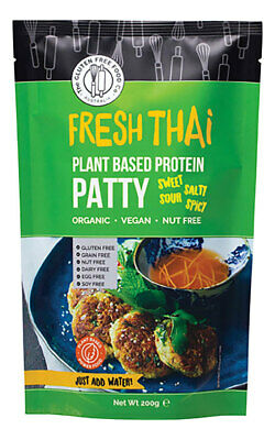 Vegan Protein Patty Mix - Fresh Thai 200g - Gluten Free Food Co
