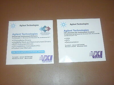 Agilent Technologies, HP I/O Libraries for Instrument Control & Drivers