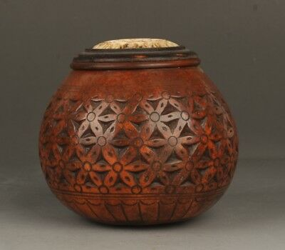 Chinese Exquisite Hand-carved gourd pot