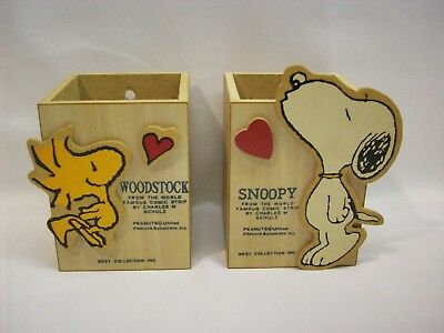 Snoopy Peanuts Woodstock 2 pc wood wall decorative boxes, Best Collection Inc