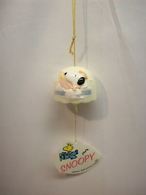 "Snoopy Peanuts ceramic wind chime #C5, ""sailer surfer"""