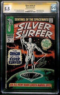 The Silver Surfer #1 Cgc 5.5 Marvel Aug 1968 Stan Lee Signature Series Ss