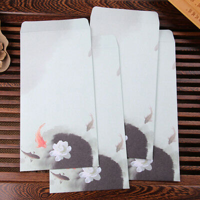 10pc Envelope Fashion Chinese Style Business Envelope Flower Printed Craft Paper