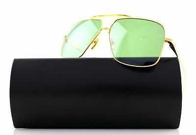 1902def8162 New Authentic DITA FLIGHT 005 Yellow Gold Vintage Green Black Sunglasses  7805-D