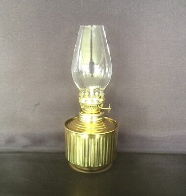 Traditional Golden Base Oil Lamp #6 - 19cm tall.
