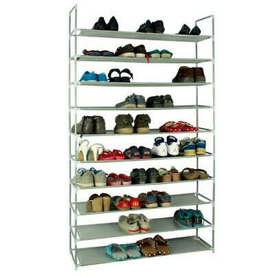 Home Portable Closet Storage Organizer Cabinet Shelf Shoe Rack 10 Layer 50 Pair