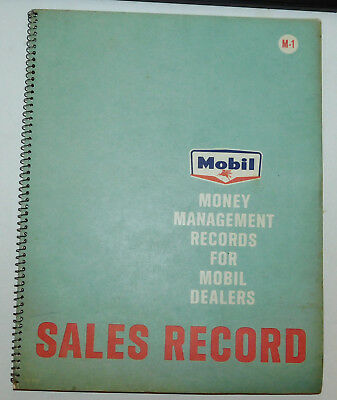 Vintage Mobiloil Sales Record Spiral Notepad Authentic Gas & Oil